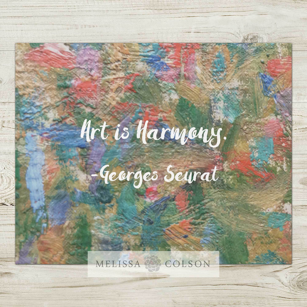 Art is Harmony Typography Art Print - Melissa Colson
