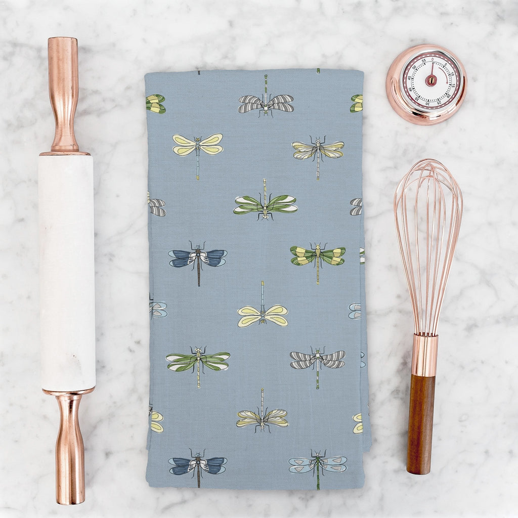 Born to Fly Tea Towel in Wistful Blue - Melissa Colson
