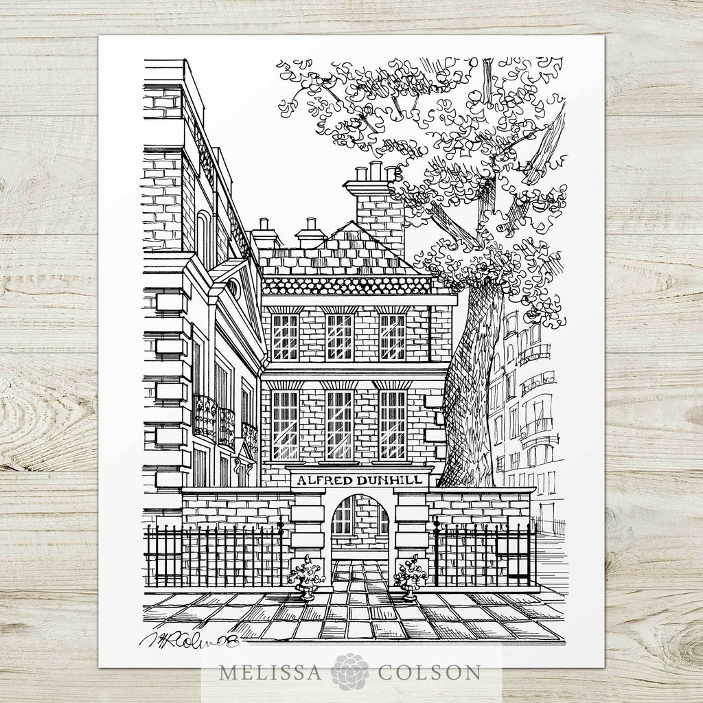 Bourdon House Pen and Ink Art Print - Melissa Colson