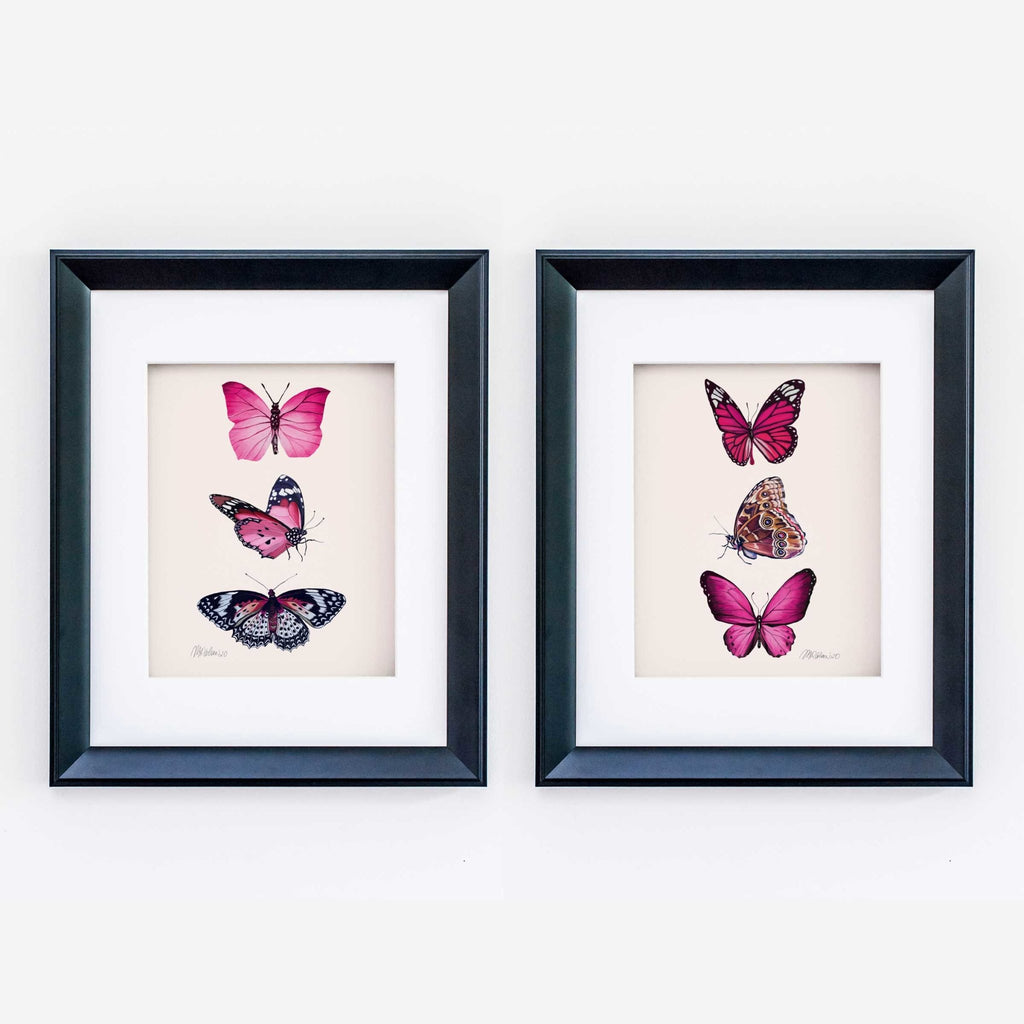 Butterflies (2 of 2) Watercolor Giclée Art Print - Melissa Colson