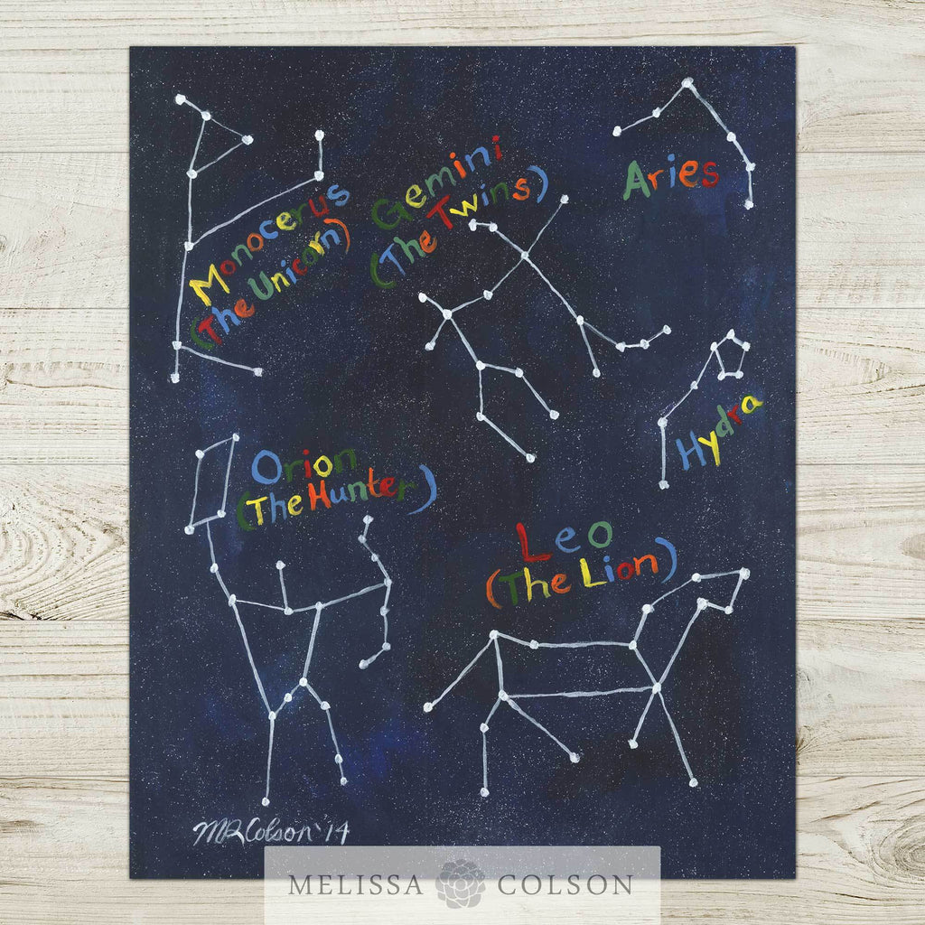 Constellations (part 1 of 2) Art Print - Melissa Colson