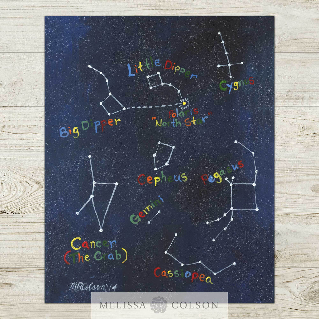 Constellations (part 2 of 2) Art Print - Melissa Colson