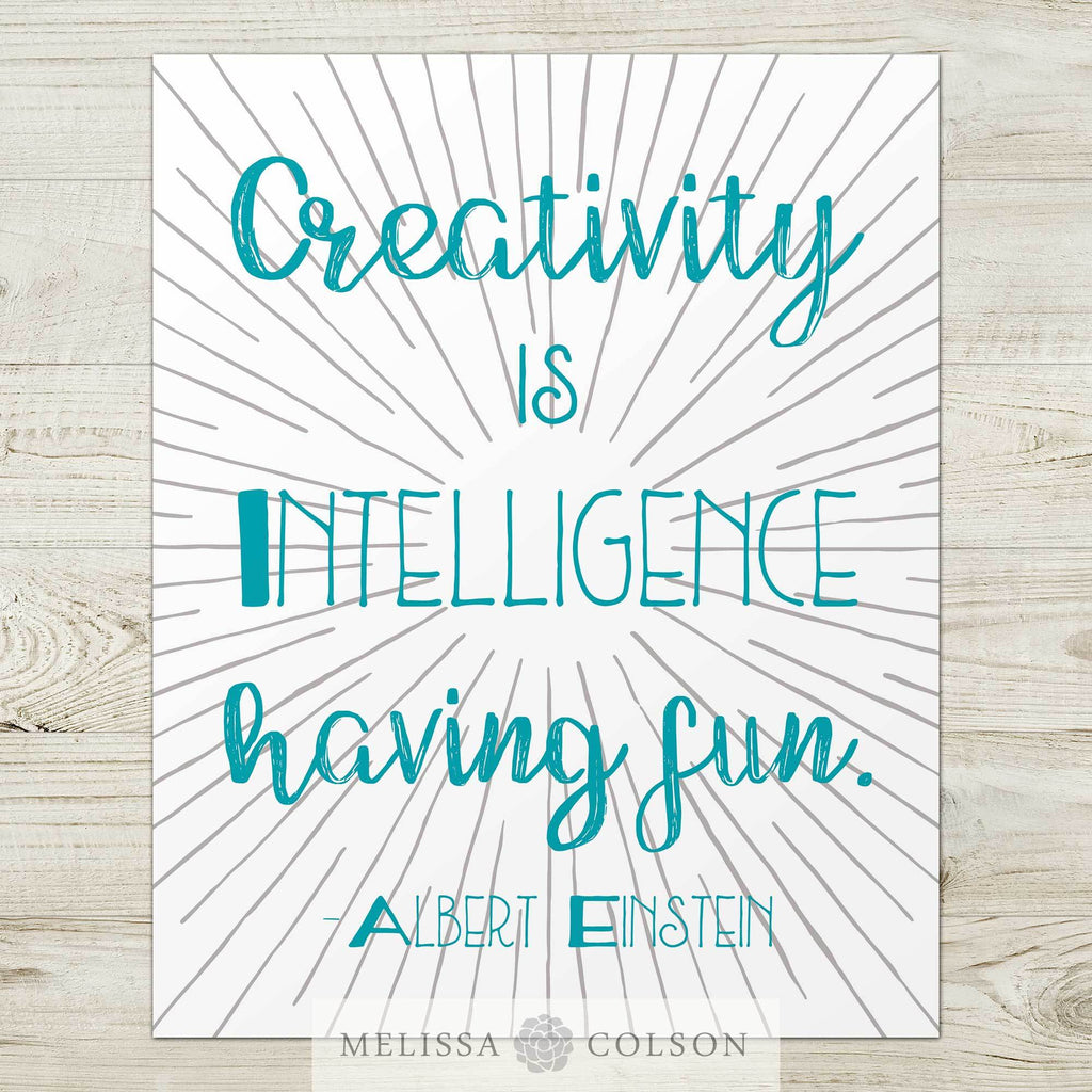 Creativity Is Typography Art Print - Melissa Colson