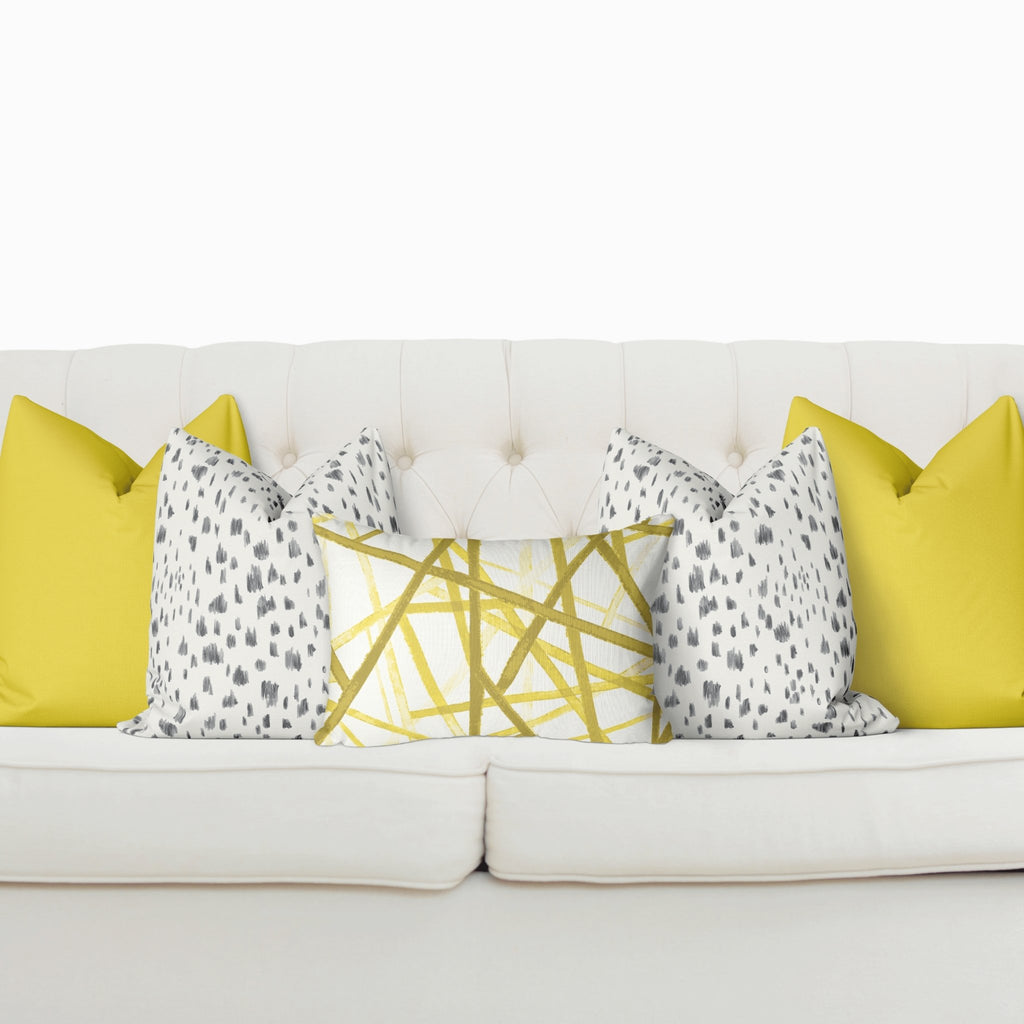 "Curated Sofa Pillow Set ""Ava"" in Illuminating - Melissa Colson"