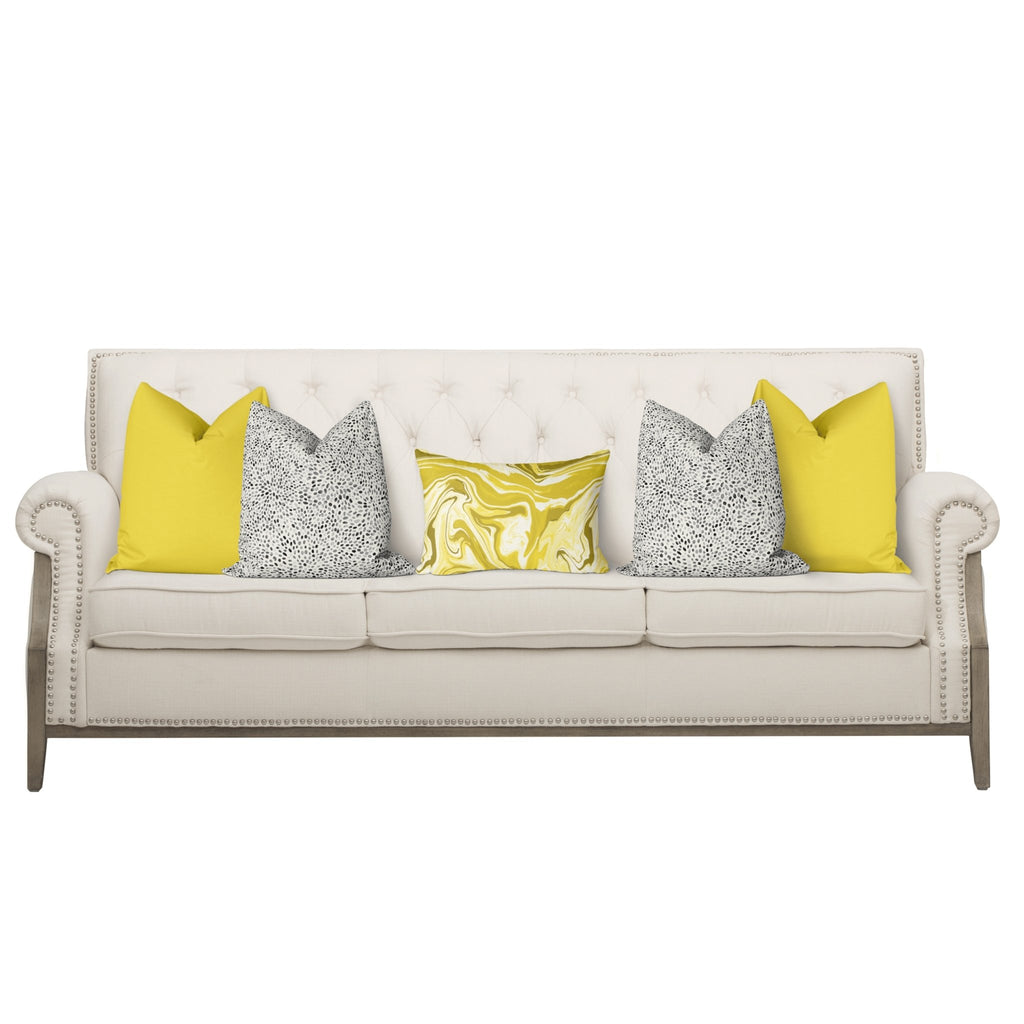 "Curated Sofa Pillow Set ""Claire"" in Illuminating - Melissa Colson"