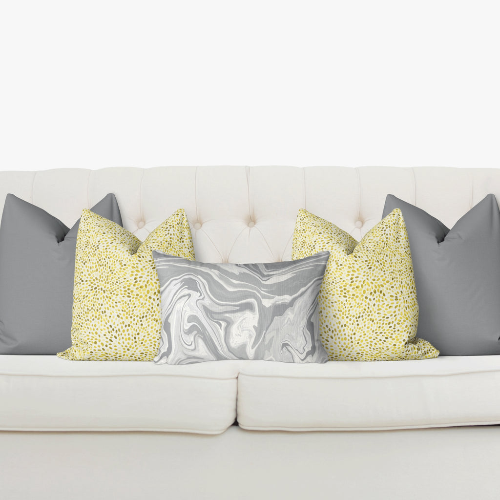 "Curated Sofa Pillow Set ""Claire"" in Ultimate Gray - Melissa Colson"