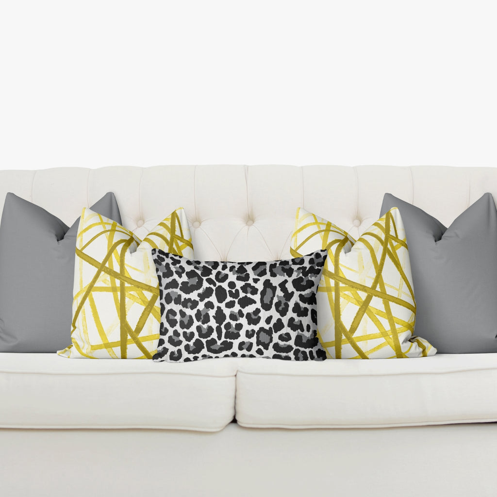 "Curated Sofa Pillow Set ""Zoe"" in Ultimate Gray - Melissa Colson"