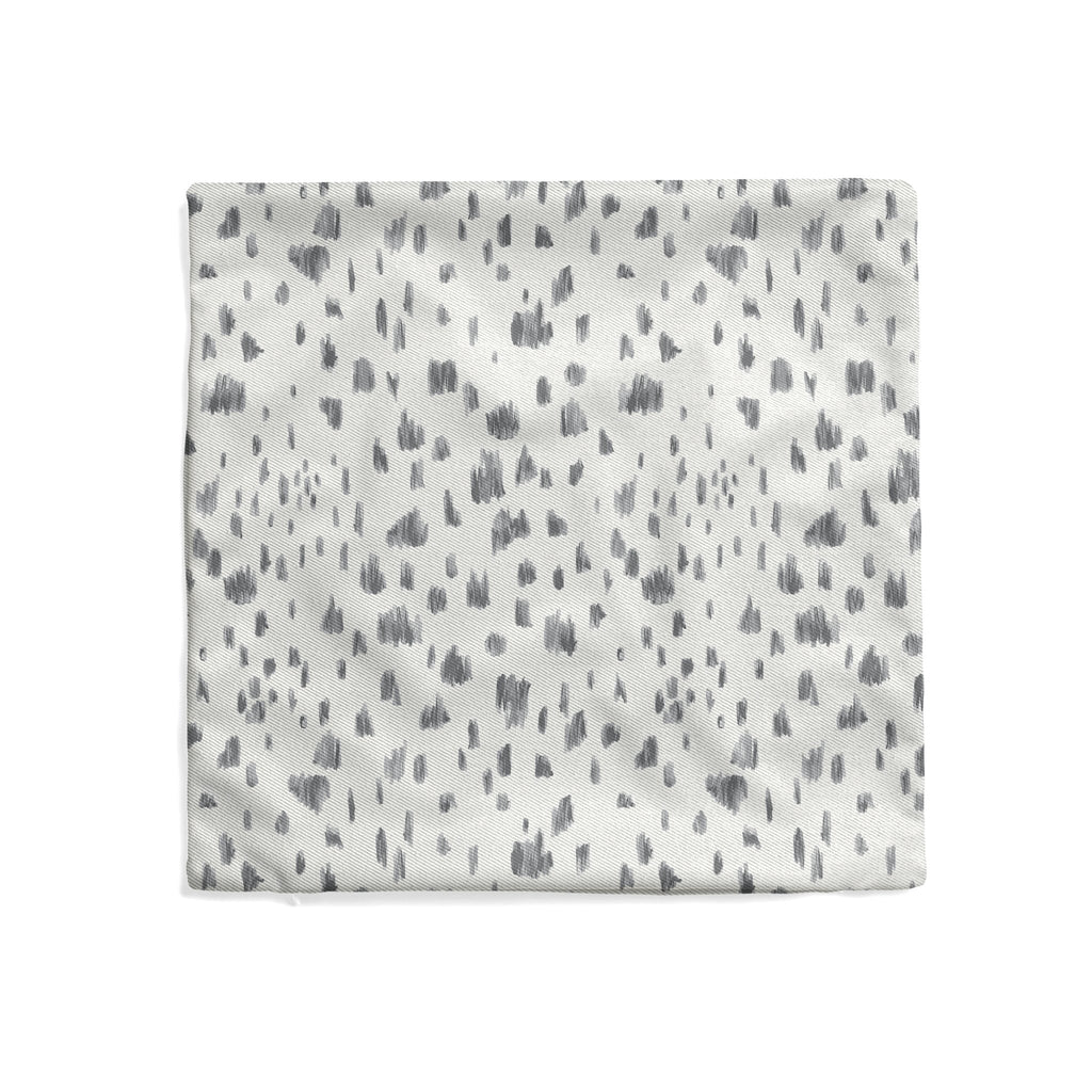 Dashes Pillow Cover in Ultimate Gray - Melissa Colson