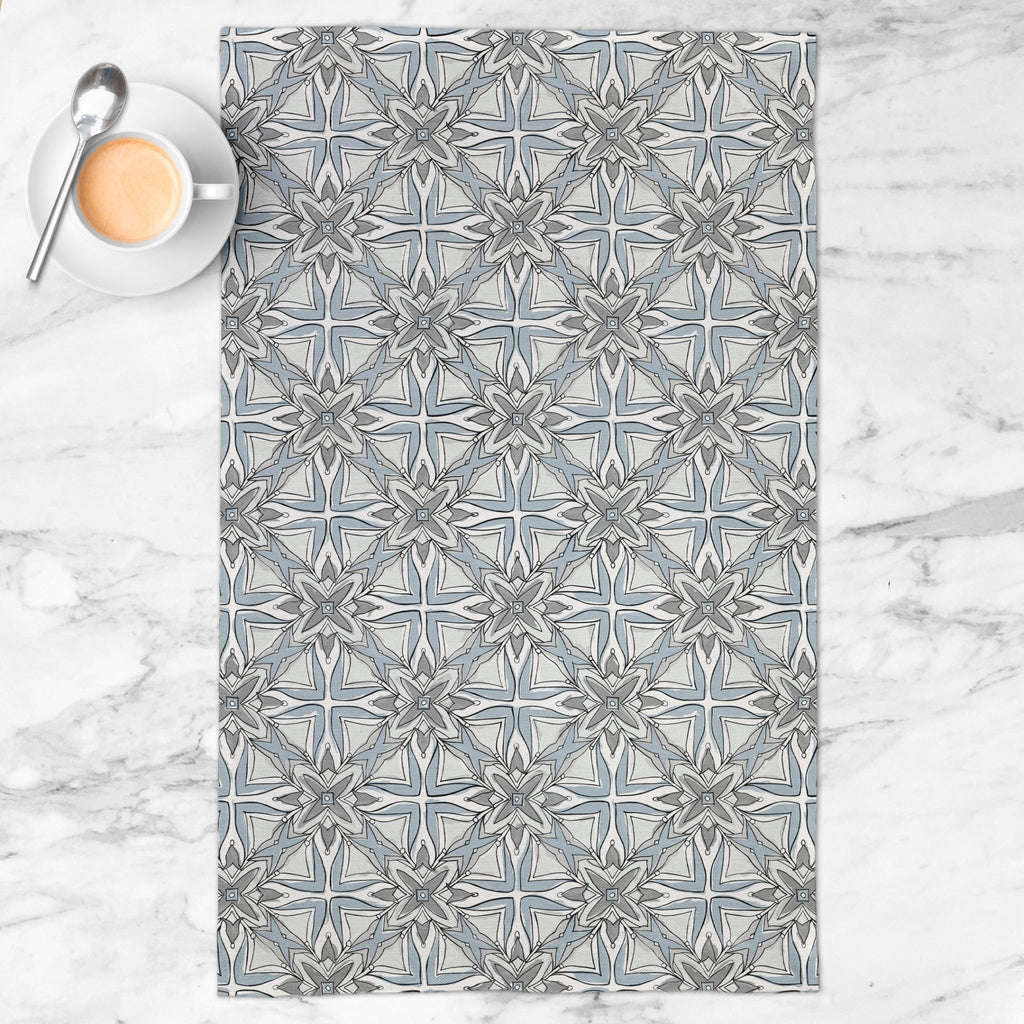 Dream Keeper Tea Towel in Wistful Gray - Melissa Colson