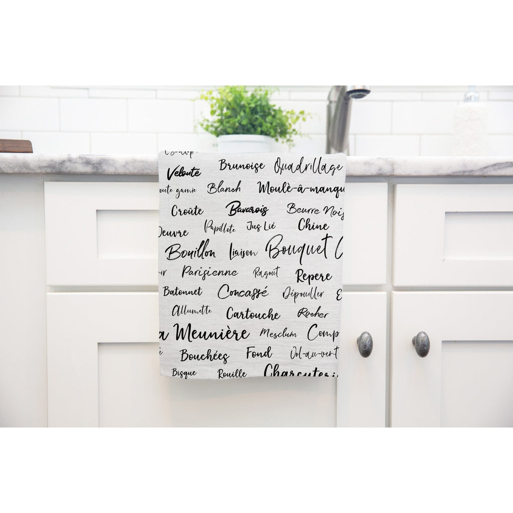 French Culinary Terms Tea Towel - Melissa Colson