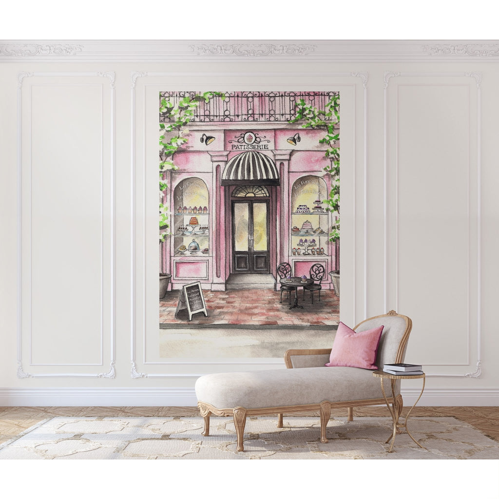 French Patisserie Peel and Stick Wall Mural - Melissa Colson