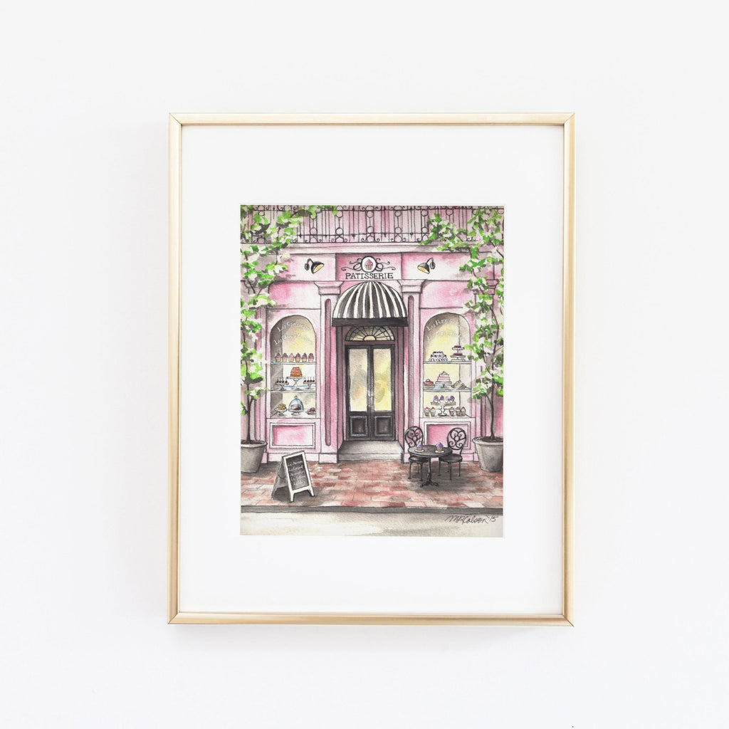 French Patisserie Watercolor Giclée Art Print - Melissa Colson