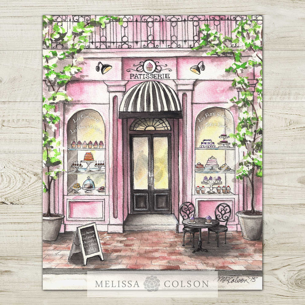 French Patisserie Watercolor Giclée Art Print Set - Melissa Colson