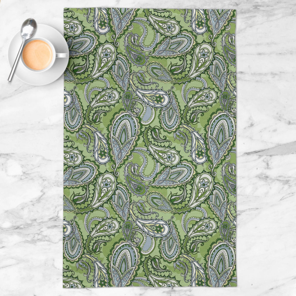 Fun and Games Tea Towel in Wistful Green - Melissa Colson