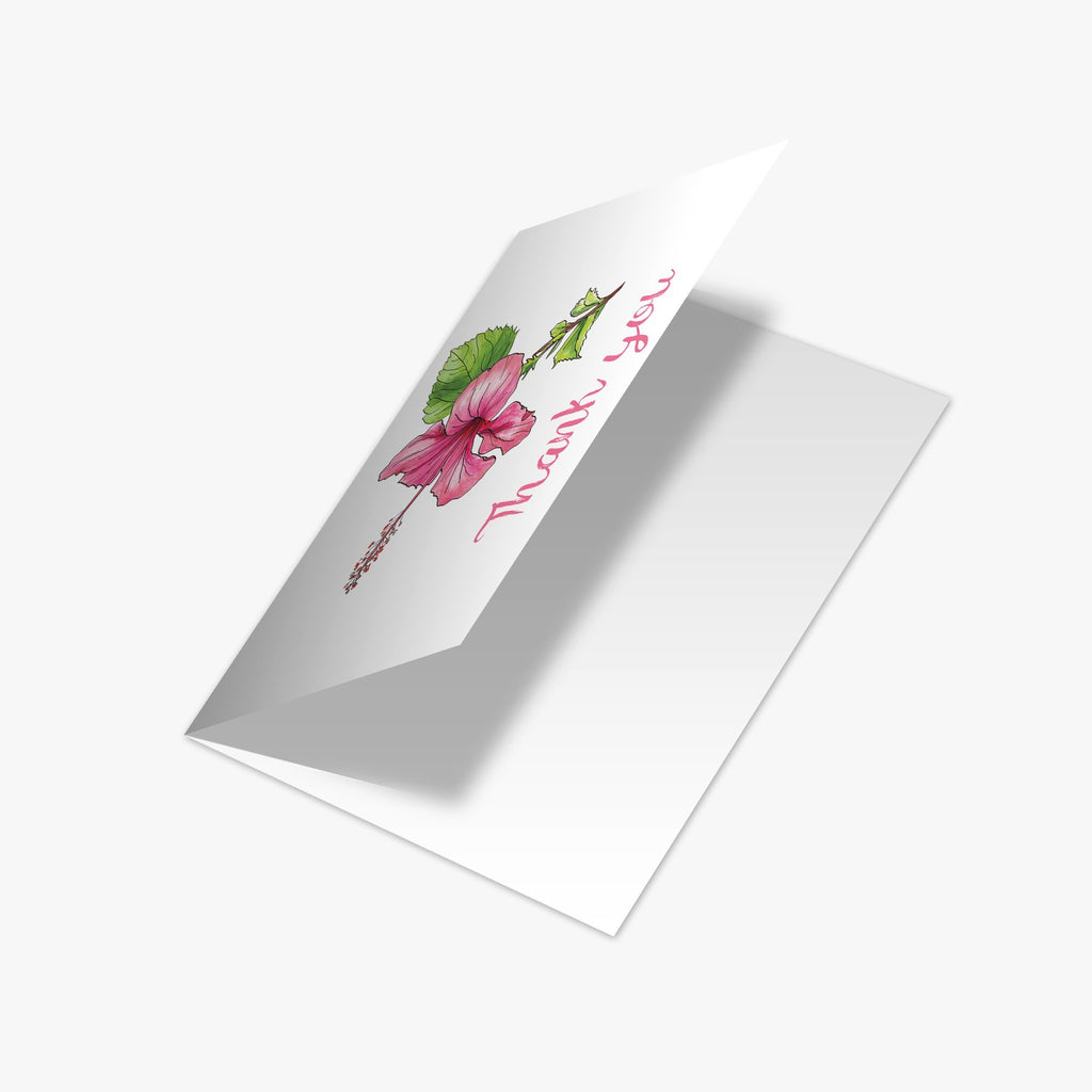 Hibiscus Thank You Card - Melissa Colson