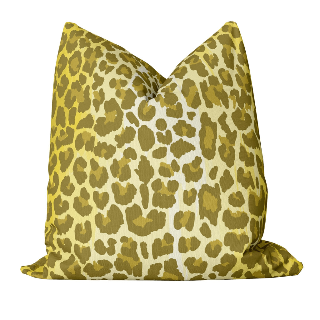 Leopard Pillow Cover in Illuminating - Melissa Colson