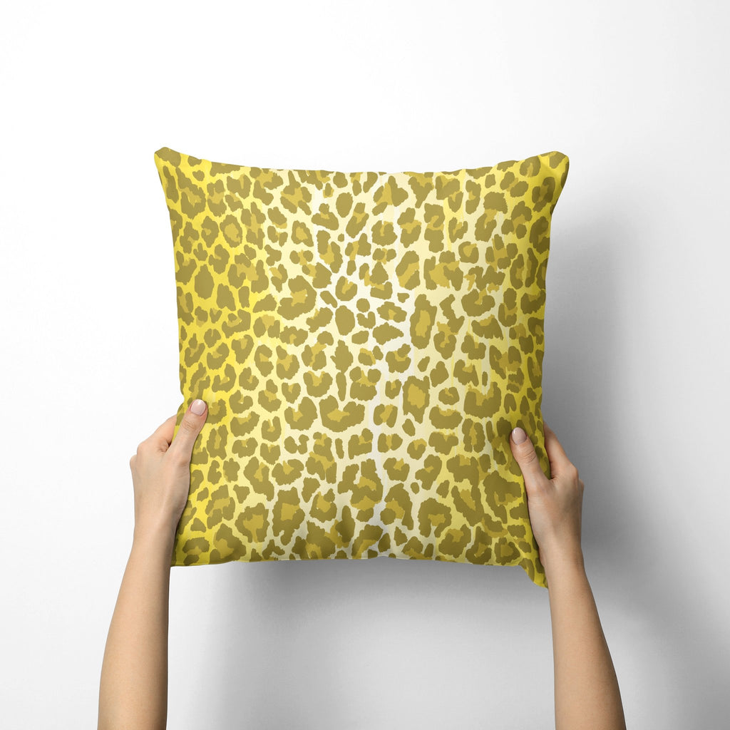 Leopard Print Pillow Cover in Illuminating - Melissa Colson