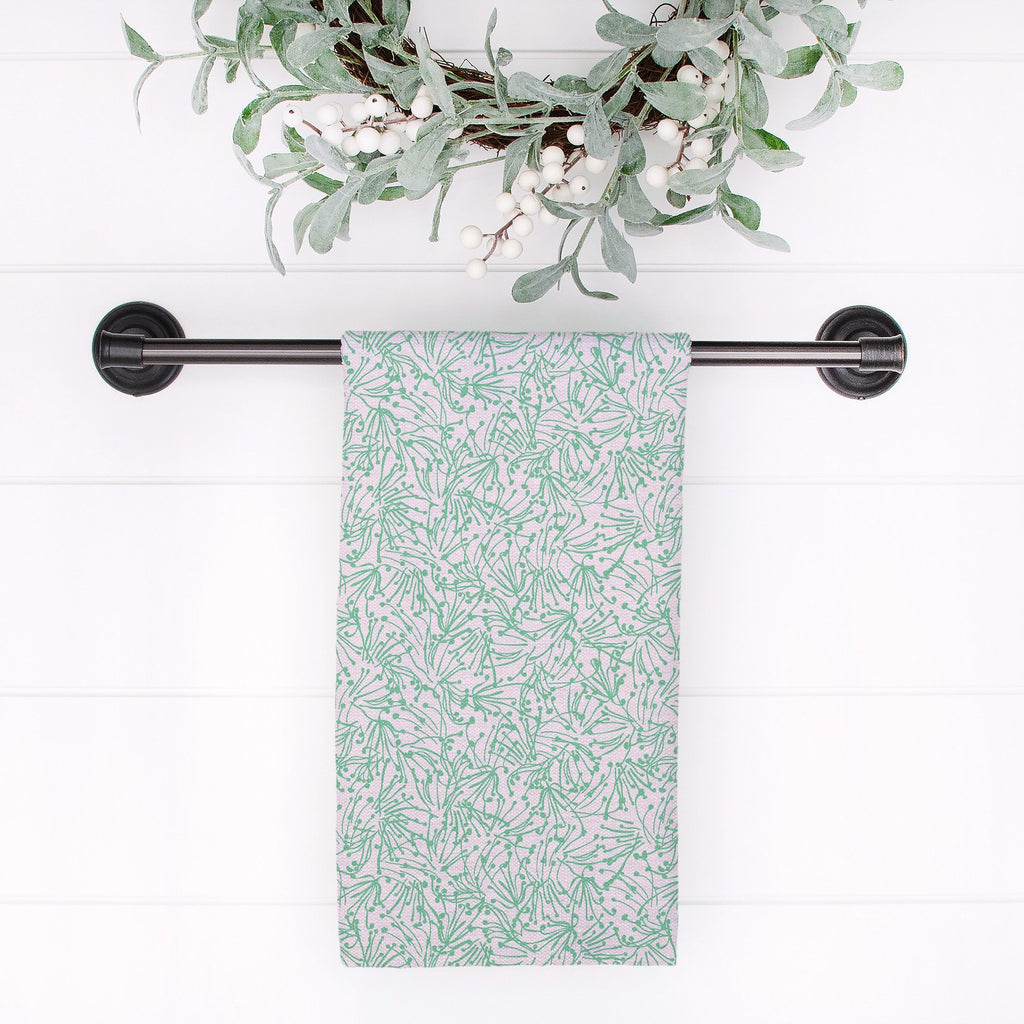 Light as a Feather Tea Towel in Happy Aqua - Melissa Colson