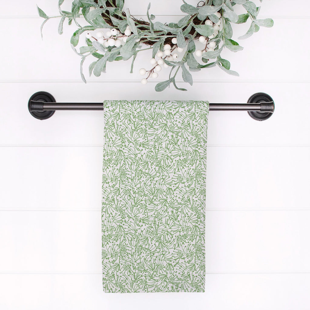Light as a Feather Tea Towel in Wistful Green - Melissa Colson