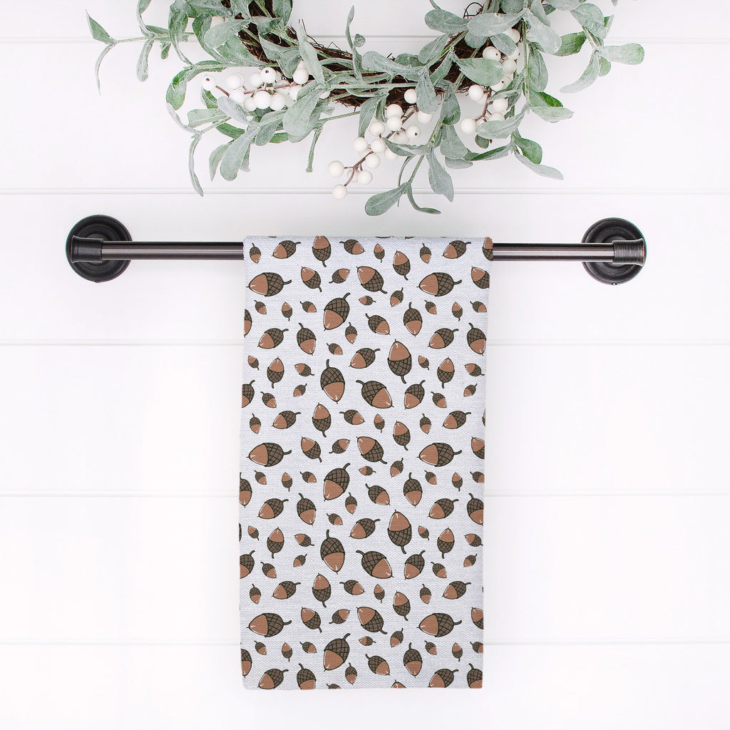 Little Acorns Tea Towel in Cloud White - Melissa Colson