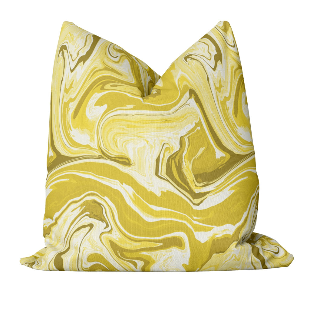 Marble Pillow Cover in Illuminating - Melissa Colson