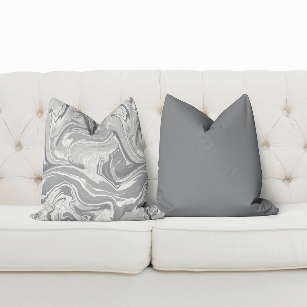 Marble Pillow Cover in Ultimate Gray - Melissa Colson