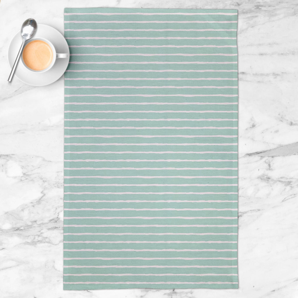 Purely Possible Tea Towel in Happy Aqua - Melissa Colson