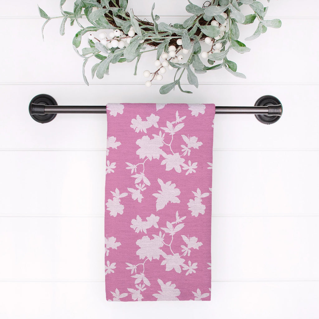 Second Wind Tea Towel in Happy Fuchsia - Melissa Colson