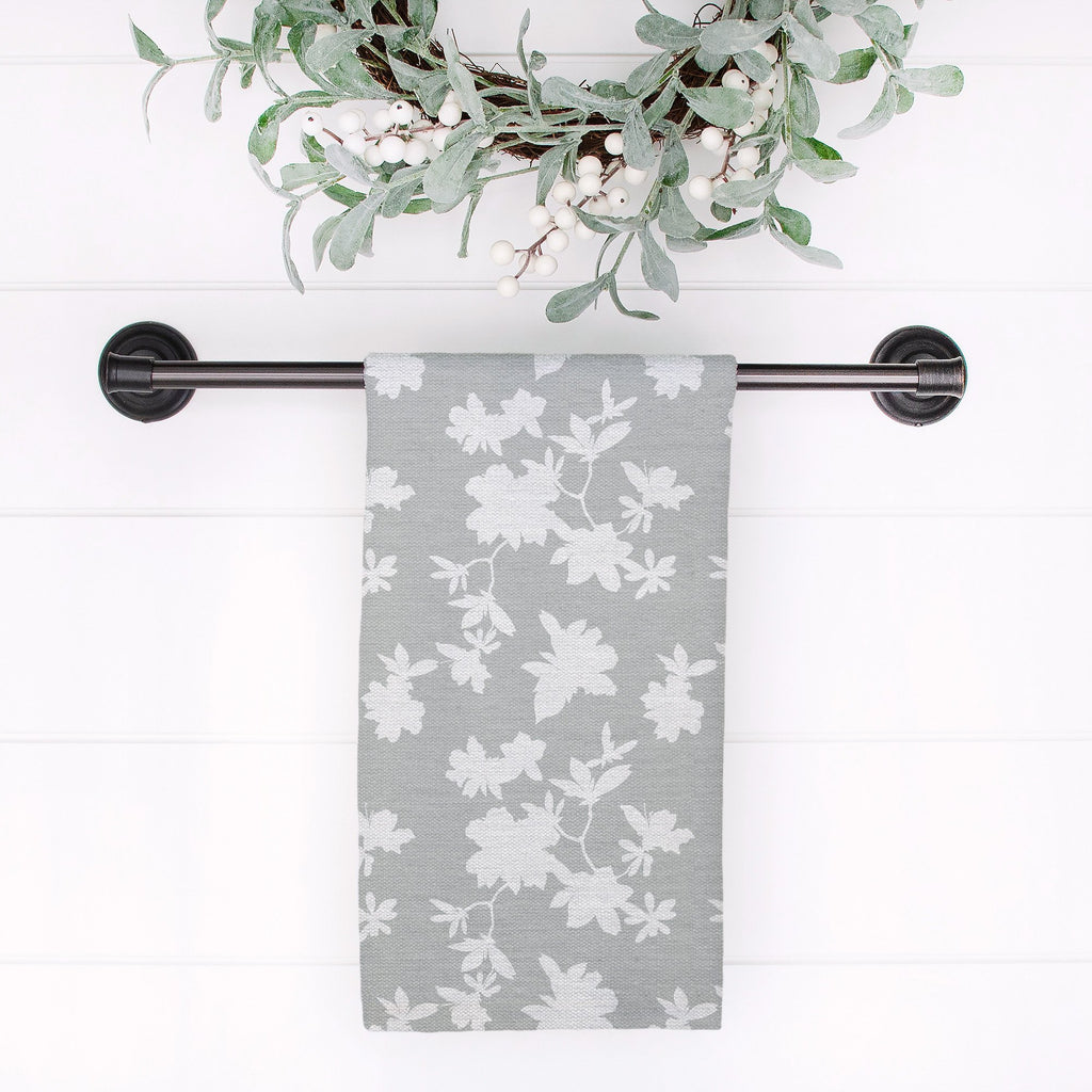 Second Wind Tea Towel in Wistful Gray - Melissa Colson