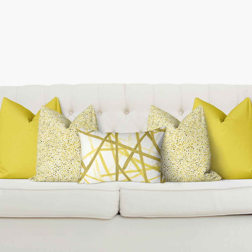 Sofa Pillow Cover Bundle - Bandeau in Illuminating - Melissa Colson