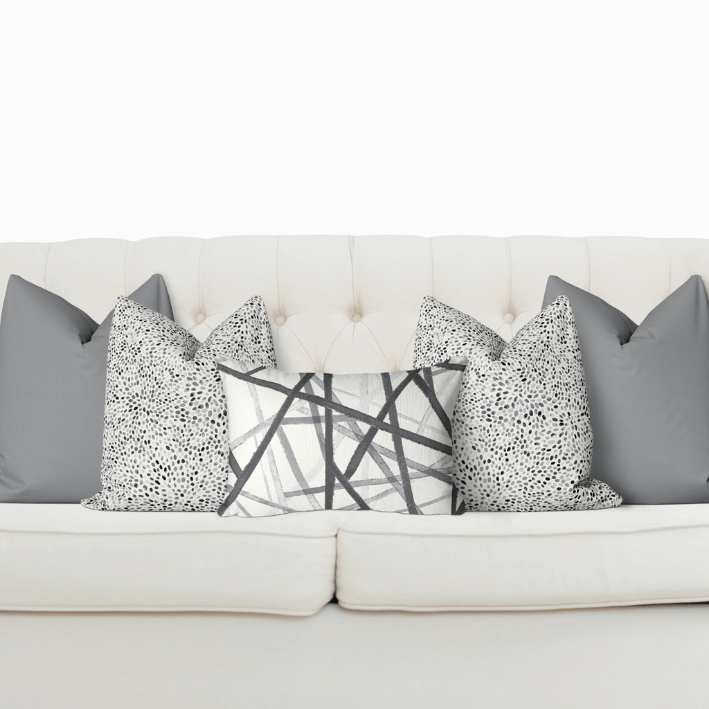Sofa Pillow Cover Bundle - Bandeau in Ultimate Gray - Melissa Colson