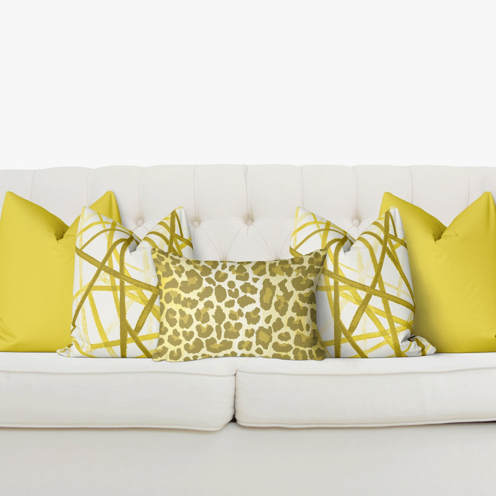 Sofa Pillow Cover Bundle - Leopard in Illuminating - Melissa Colson