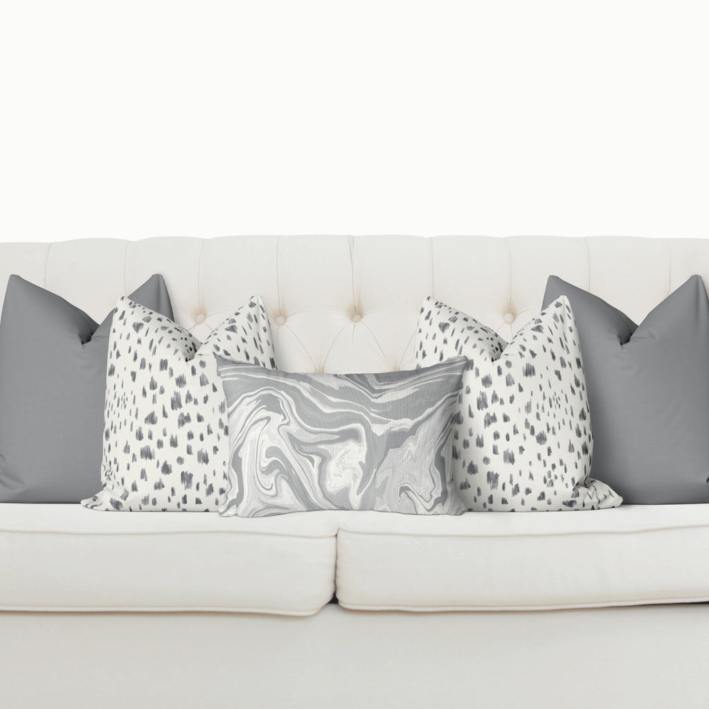 Sofa Pillow Cover Bundle - Marble in Ultimate Gray - Melissa Colson