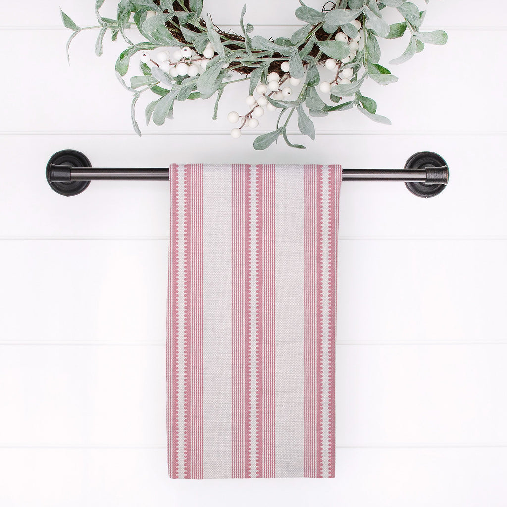 Sophisticated Stripe Tea Towel in Pink / Blush - Melissa Colson