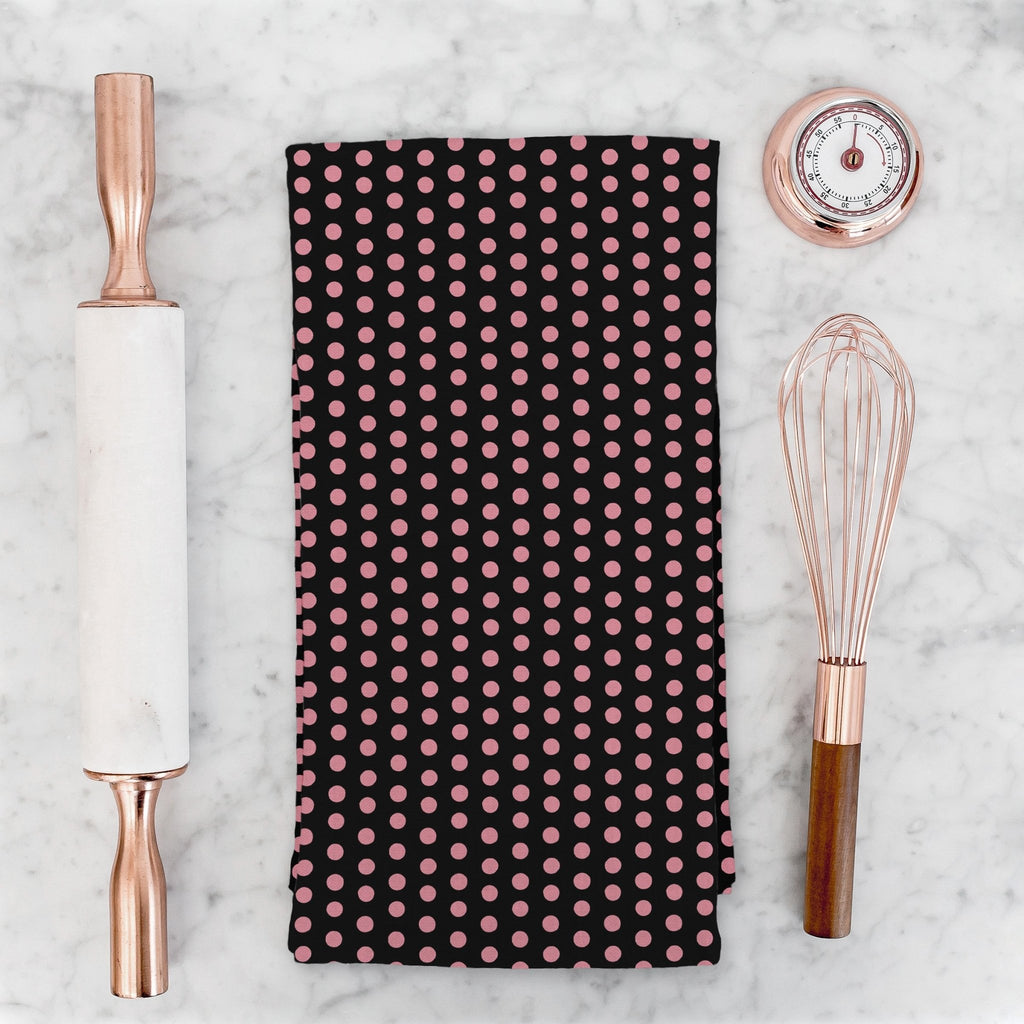 Splendid Dots Tea Towel in Black - Melissa Colson