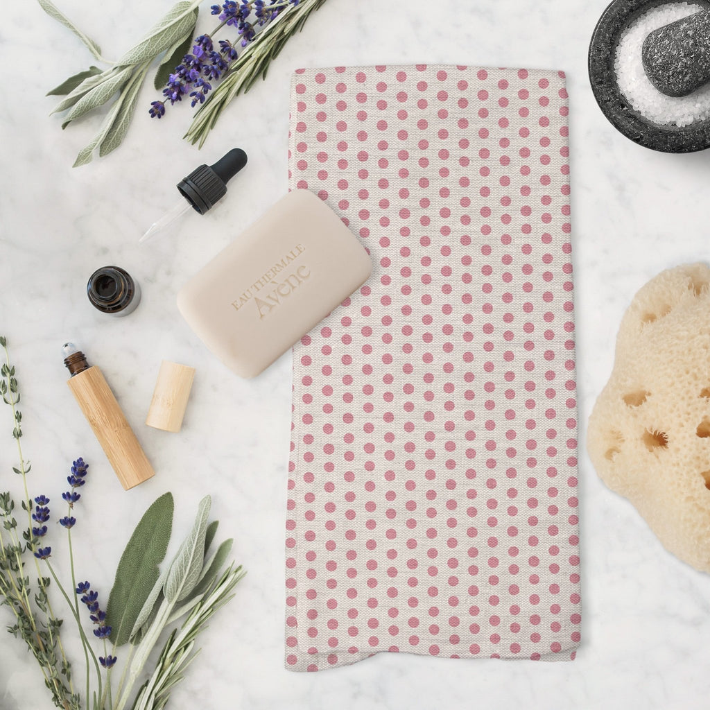 Splendid Dots Tea Towel in Blush - Melissa Colson