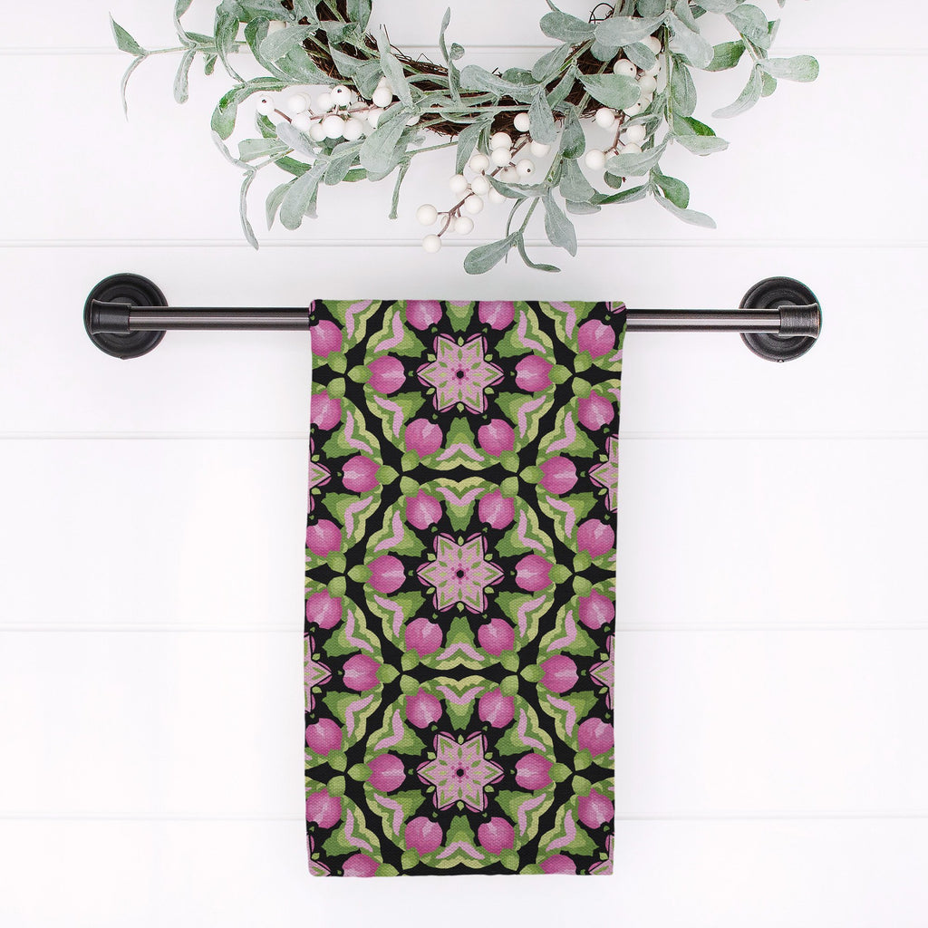 Splendid Fleur Tea Towel in Black - Melissa Colson