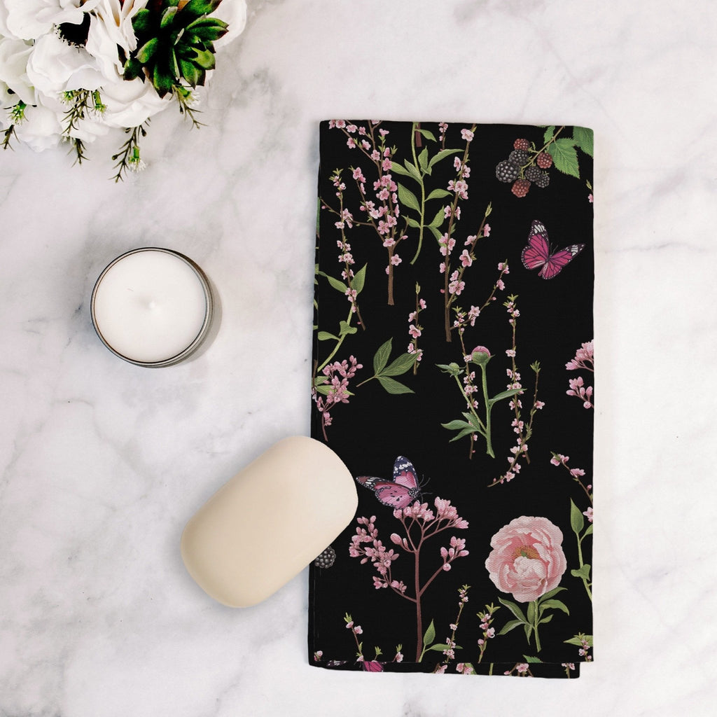 Splendid Garden Tea Towel in Black - Melissa Colson