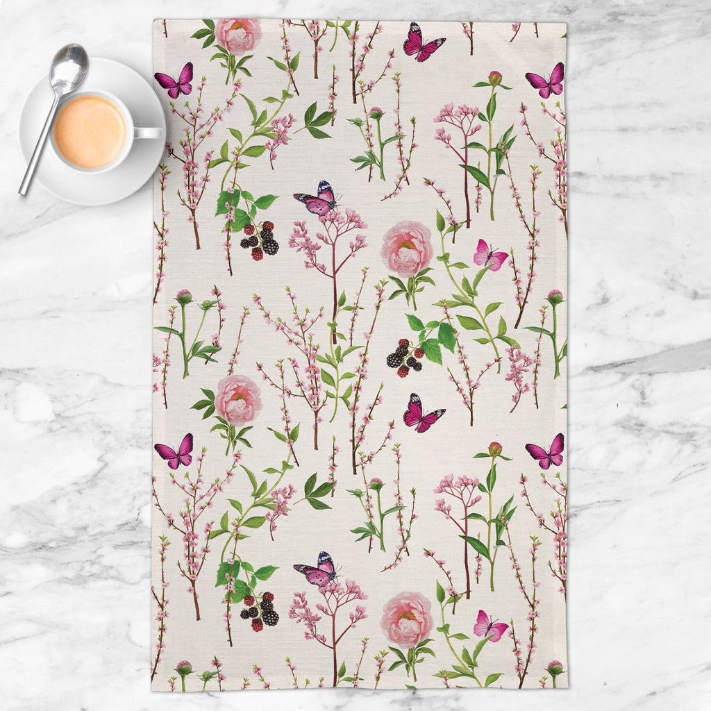 Splendid Garden Tea Towel in Blush - Melissa Colson