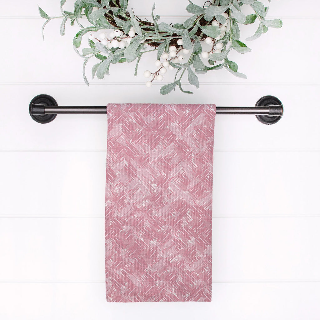 Splendid Herringbone Tea Towel in Pink - Melissa Colson