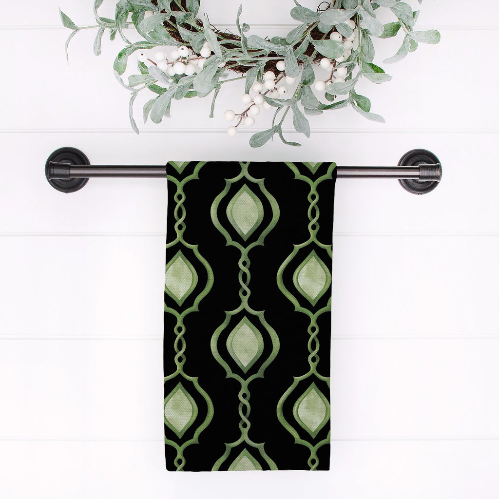 Splendid Trellis Tea Towel in Black - Melissa Colson