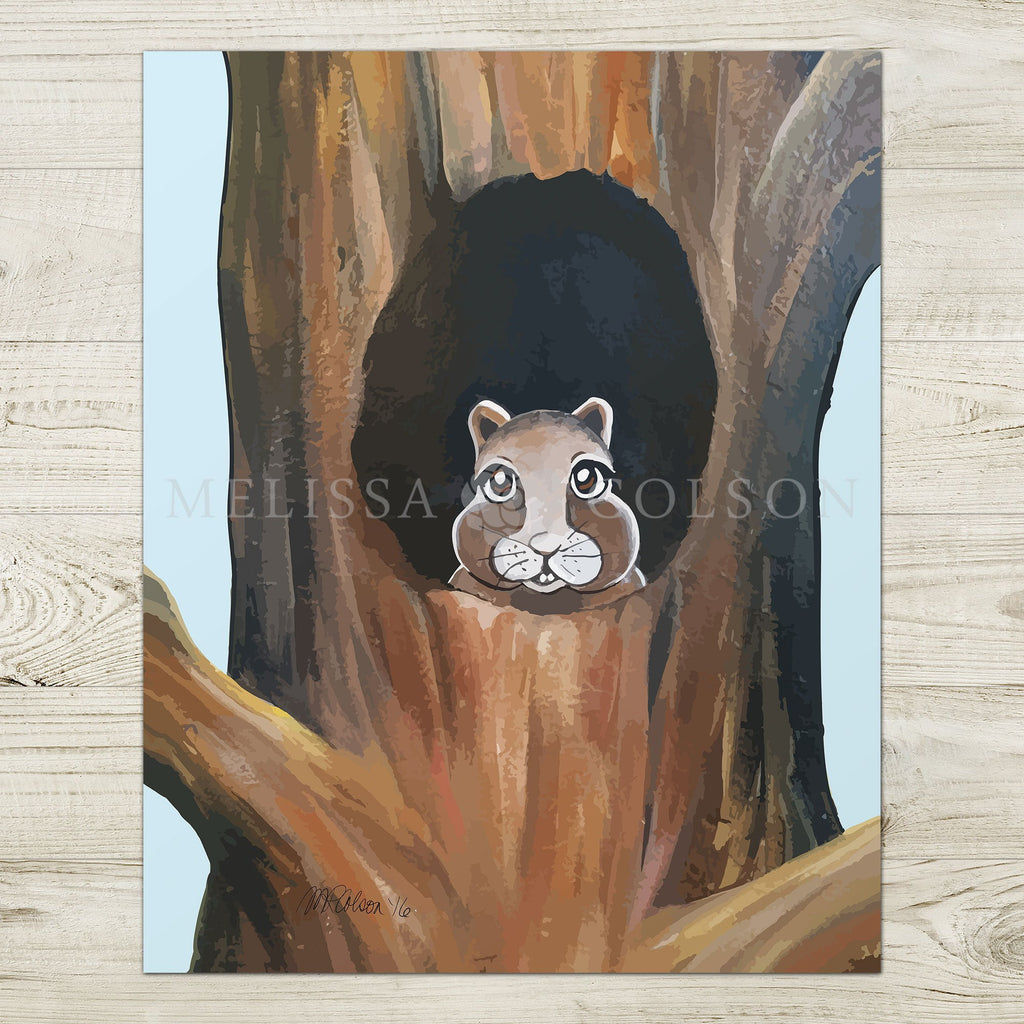 Stuart the Squirrel Giclée Art Print - Melissa Colson