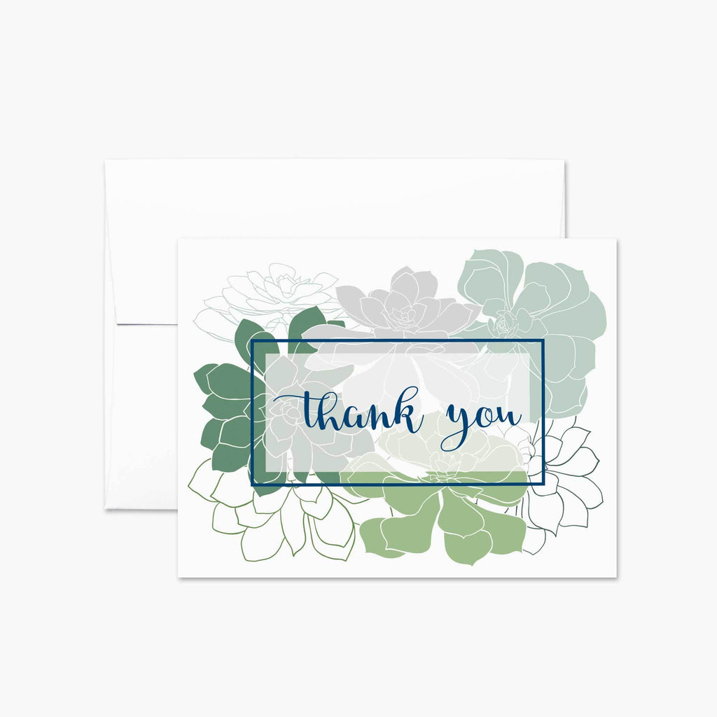 Succulents Thank You Card - Melissa Colson