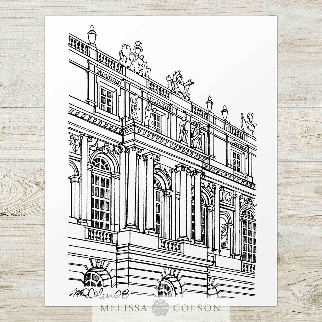 Versailles Pen and Ink Art Print - Melissa Colson