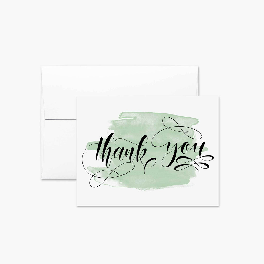 Watercolor Thank You Card - Melissa Colson