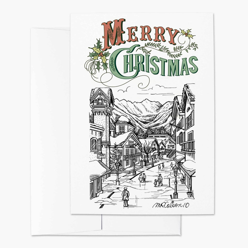 Winter Village Christmas Card - Melissa Colson