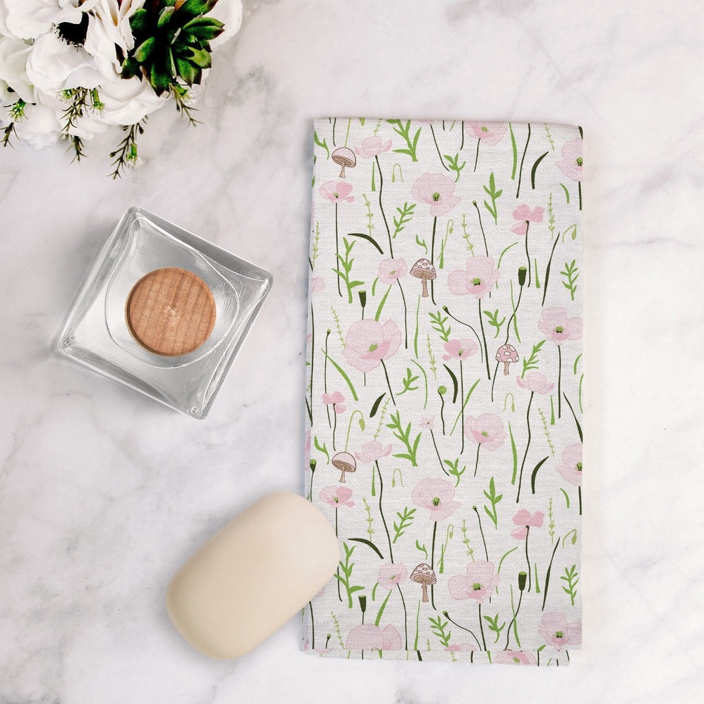 Wonder Floral Tea Towel in Cloud White - Melissa Colson