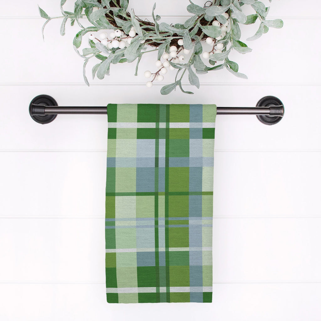 Woven Together Tea Towel in Wistful Green - Melissa Colson