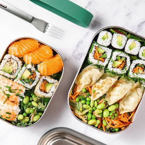 Reusable stainless steel lunch box