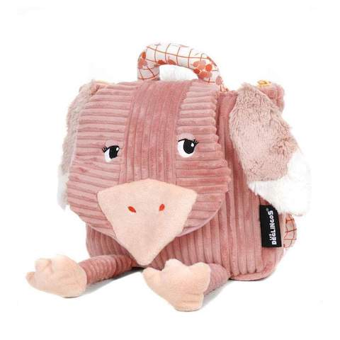 Kids backpack for school and activities - Pomelos The Ostrich by Les Déglingos